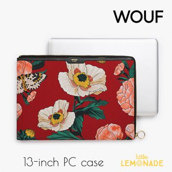 【WOUF】13インチ PCケース 【Jardin】 パソコン用スリーブ Macbook Pro 13inch PC Sleeve WOOUF!(SA170001)