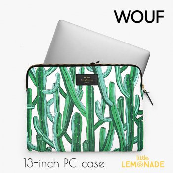 【WOUF】13インチ PCケース 【Wild Cactus】 パソコン用スリーブ Macbook Pro 13inch PC Sleeve WOOUF!(S170012)