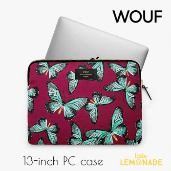 【WOUF】13インチ PCケース 【Butterfly】パソコン用スリーブ Macbook Pro 13inch PC Sleeve WOOUF!(S170009)