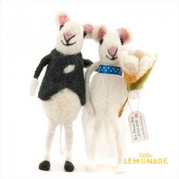 【Sew Heart Felt】小さなネズミの新婚さん 羊毛フェルト