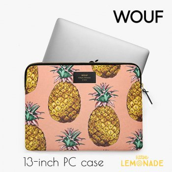 【WOUF】13インチ PCケース 【Ananas-Pinapple】パソコン用スリーブ Macbook Pro 13inch PC Sleeve WOOUF!(S170011)