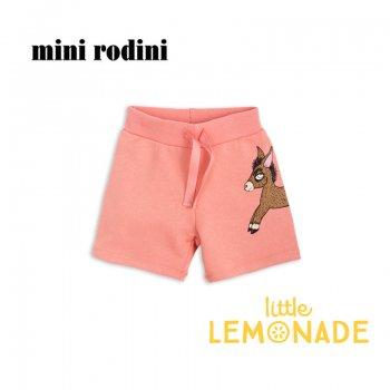 【Mini Rodini】 ピンクのスウェット半ズボン 【92/98】1.5-3歳  ドンキープリント Donkey sweatshorts /pink(1823016133) SS SALE