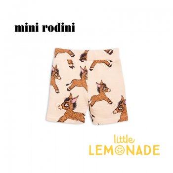 【Mini Rodini】 ロバ柄 スウェットショートパンツ  【104/110】3-5歳 Donkey aop sweatshorts / beige (1823018513) SS SALE