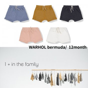 【1+ in the family】WARHOL bermuda/ショートパンツ 12M(80cm)