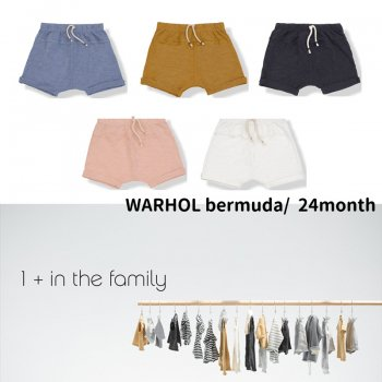 【1+ in the family】WARHOL bermuda/ショートパンツ 24M(92cm)