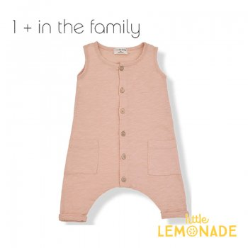 ◆SS_SALE 【1+ in the family】WASSILY jumpsuit/ノースリーブロンパース 9M(72cm)ピンク