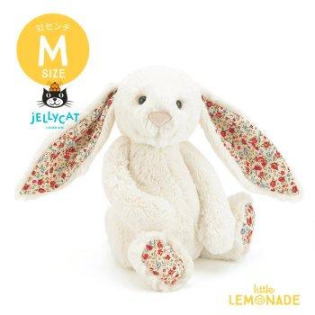 【Jellycat】 Blossom Cream Bunny Mサイズ バニー 花柄x真っ白 うさぎ ぬいぐるみ ジェリーキャット (BL3CBN)