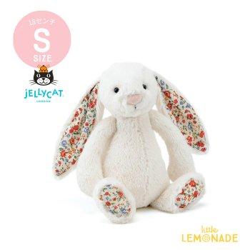 【Jellycat】 Blossom Cream Bunny Sサイズ花柄x真っ白 バニー うさぎ ぬいぐるみ ジェリーキャット (BLB6CBN)