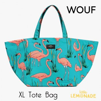 【WOUF】 トートバッグ 【Pink Flamingo Tote Bag】 フラミンゴ(WOOUF!) (HXL180003)