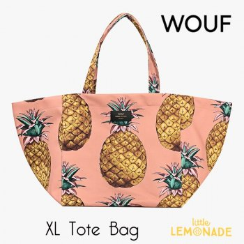 SALE◆【WOUF】トートバッグ 【Ananas Tote Bag】 ピンク パイナップル(WOOUF!) (HXL180006)