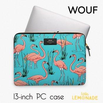 【WOUF】13インチ PCケース 【Pink Flamingo】パソコン用スリーブ(WOOUF!) (S180003)
