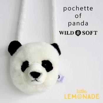 【Wild&Soft ワイルドソフト】パンダのぬいぐるみポーチ ポシェット Panda