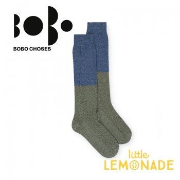 【BOBO CHOSES】ロング ソックス ジュニア ブルー×グリーン(12.5-14cm/14.5-16cm 16.5-18cm)(218151) AW
