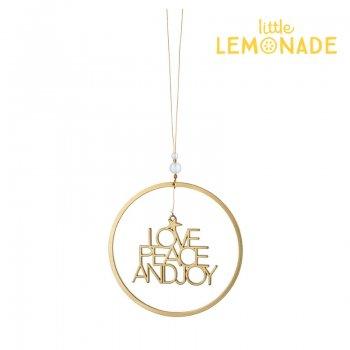 【Rader】Love Peace Joy Gold オーナメント【クリスマス 飾り パーティー ドイツ メタル製】 (0136-168)