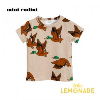 【Mini Rodini】カモ柄 半袖 Tシャツ【1.5-3歳/5-7歳】 Ducks aop ss tee SS SALE