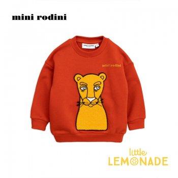 【mini rodini】 プーマ 赤の長袖トレーナー 【3-5歳/5-7歳】 Cat patch sweatshirt AW