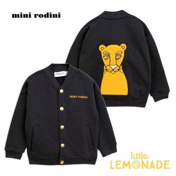 【Mini Rodini】 プーマの黒いカーディガン 【1.5-3歳/3-5歳】 puma cardigan ブルゾン AW