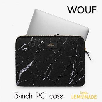 【WOUF】13インチ PCケース【Black Marble】 黒 大理石 パソコン用スリーブ(WOOUF!) (S160003)