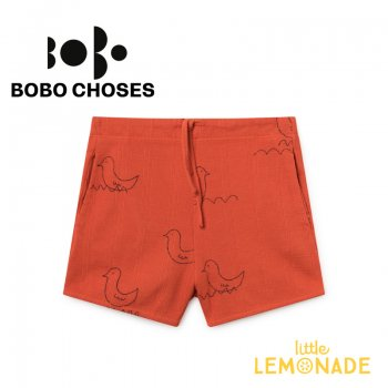 【BOBO CHOSES ボボ ショーズ】Geese Red Shorts/キッズサイズ 2歳から7歳【2019SS】119059