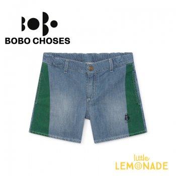 【BOBO CHOSES】 Paul's Denim Shorts 【4-5歳/6-7歳】 バイカラーデニム ショートパンツ 119137 SS SALE
