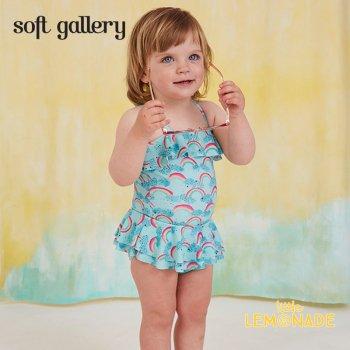 【Soft gallery】レインボープリント ワンピース 水着 【24M/2歳 SWIMSUIT SHIRLEY】 ベビー ワンピースタイプ 虹 (317-354-794) SS SALE