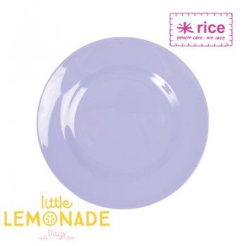 【RICE】メラミンサイドプレート 直径20cm/ライトパープル (MESPL-SL)