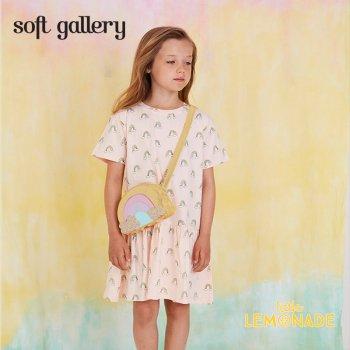 【Soft gallery】 レインボー デザイン ワンピース 【4歳/6歳/8歳】 rainbow print 半袖  子供服 (550-037-791)  SS SALE