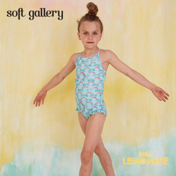 【Soft gallery】レインボーデザイン ワンピース水着【2歳/4歳/6歳/8歳】 SWIMSUIT (807-354-794) SS SALE