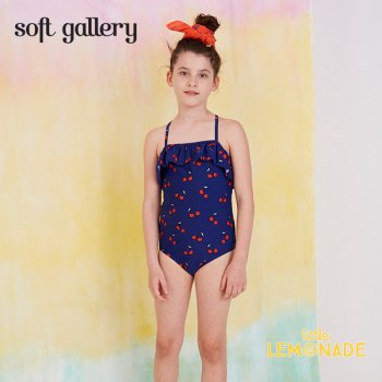 【Soft gallery ソフトギャラリー】SWIMSUIT MILLE cherry print 4歳〜8歳【2019SS】(963-358-789)