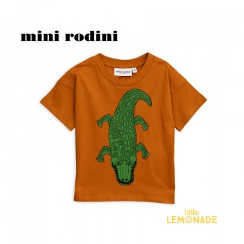【minirodini ミニロディーニ】CROCO T-SHIRT/brown 2019S/S(1922012816)