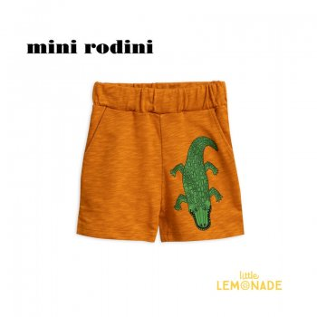 【minirodini ミニロディーニ】CROCO SWEATSHORTS/brown 2019S/S(1923013916)