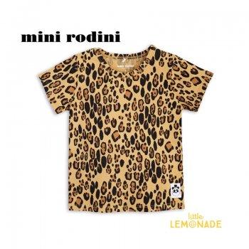 【mini rodini】 レオパード 半袖 Tシャツ 【1.5-3歳/3-5歳/5-7歳】 子供服 Basic Leopard  (1922012213) SS SALE