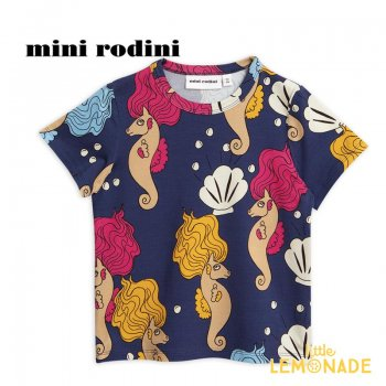 【mini rodini】 タツノオトシゴ 半袖 Tシャツ 【5-7歳】(116/122) SEAHORSE T-SHIRT (1922012667) SS SALE