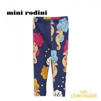 【mini rodini】 タツノオトシゴ レギンス 【3-5歳/5-7歳】ボトムス  SEAHORSE LEGGINGS (1923013067) SS SALE