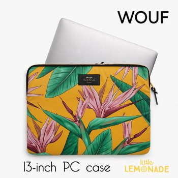 【WOUF】13インチ PCケース 【Birds of Paradise】パソコン用スリーブ Macbook Pro 13inch PC Sleeve WOOUF!(S180001)