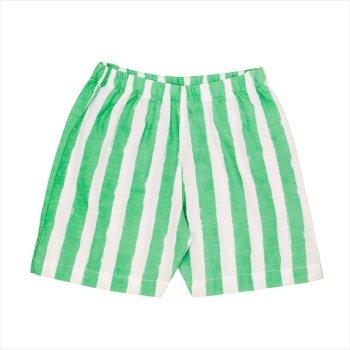 【Noe & Zoe】ストライプ ショートパンツ 【6歳】Green stripes・Blue gingham バミューダ (S19042) SS SALE