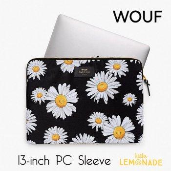 【WOUF】13インチ PCケース 【Daisy】 白 デイジー パソコン用スリーブ(WOOUF!) (S190004)
