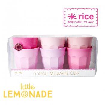 【RICE】メラミンカップ Sサイズ6個セット/ピンク×ピンク(MELCU-6SIXC)
