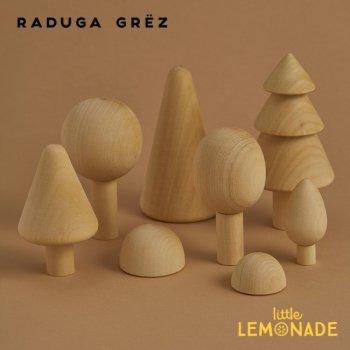 【Raduga Grez】 フォレスト セット ナチュラル ロシア製 積み木 木製 おもちゃ 森 林  おままごと Forest  set natural RG02002