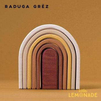 【Raduga Grez】 オーバルレインボー アーチスタッカー ロシア製 積み木 木製 おもちゃ 虹【Oval rainbow】 RG03010