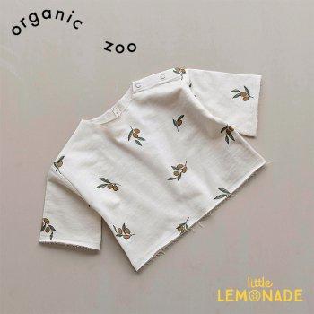 【organic zoo】 オリーブ柄 スウェットシャツ トレーナー 6か月/1-2歳/2-3歳 Olive Garden Layer Oat Sweatshirt  オーガニックズー OLOZ
