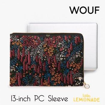 【WOUF】  13インチ PCケース【Leila】 レイラ ベルベット パソコン用スリーブ Macbook Pro 13inch パソコン用スリーブ  (SA190007)