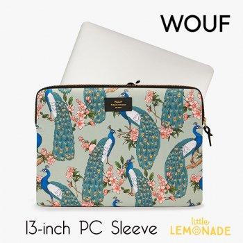 【WOUF】  13インチ PCケース 【Royal Forest】  クジャク 孔雀 ピーコック パソコン用スリーブ Macbook Pro 13inch  (S190008)