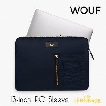 【WOUF】 13インチ PCケース【Navy Bomber】 撥水 ナイロン パソコン用スリーブ パソコンケース  (SM190001)