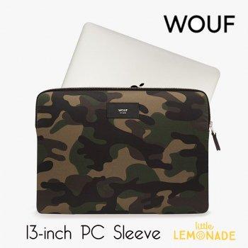 【WOUF】 13インチ PCケース【Camouflage】 パソコン用スリーブ  迷彩 カモフラージュ カモフラ おしゃれ (SM190012)