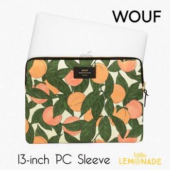 【WOUF】 13インチ PCケース 【Peach】ピーチ ボタニカル 桃 オレンジ おしゃれ  パソコン用スリーブ パソコンケース  (S200006)