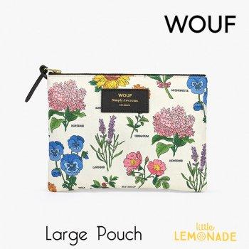 【WOUF】 ラージポーチ 【Botanic】花柄 ボタニック ボタニカル フラワー 植物 花 おしゃれ  クラッチバッグバッグ 小物入れ  (ML200008)