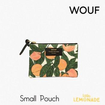 【WOUF】 スモールポーチ 【Peach】ピーチ ボタニカル 桃 オレンジ おしゃれ  ミニポーチ 小物入れ  (MS200006)