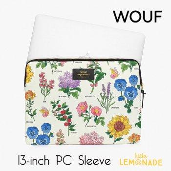 【WOUF】 13インチ PCケース 【Botanic】花柄 ボタニック ボタニカル フラワー 植物 花   パソコン用スリーブ パソコンケース  (S200008)