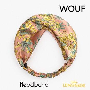 【WOUF】 ヘアバンド 【Mimosa】 HeadBand ミモザ  黄色 花柄 フラワー ヘアバンド ヘアアクセサリー (HBA200002)